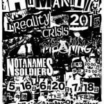 MEANING、REALITY CRISIS、NOT A NAME SOLDIERSによるHUMANITY TOUR 2015開催