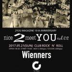 2YOU MAGAZINE10周年企画「nice2meetYOU vol.2」開催。Wienners、CHAI、6EYES出演決定。